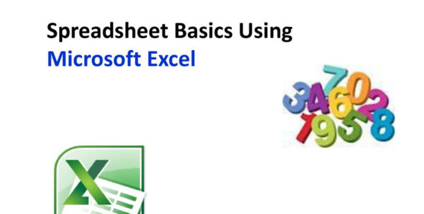 Excel Spreadsheet Basics With Regard To Spreadsheet Basics Using Microsoft Excel  Ppt Download