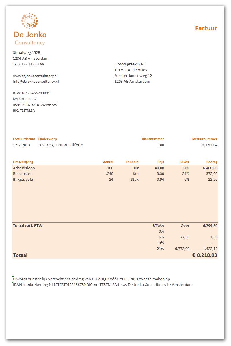 Excel Spreadsheet Boekhouden Inside Excel Factuur Sjabloon Gratis Boekhouden In Excel Binnen Factuur