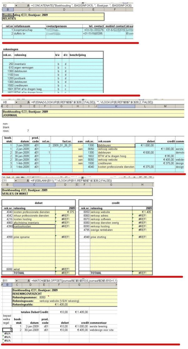 Excel Spreadsheet Boekhouden Inside Nog Maar Eens: Boekhouden In Excel Nu Met Screenshots Van Excel