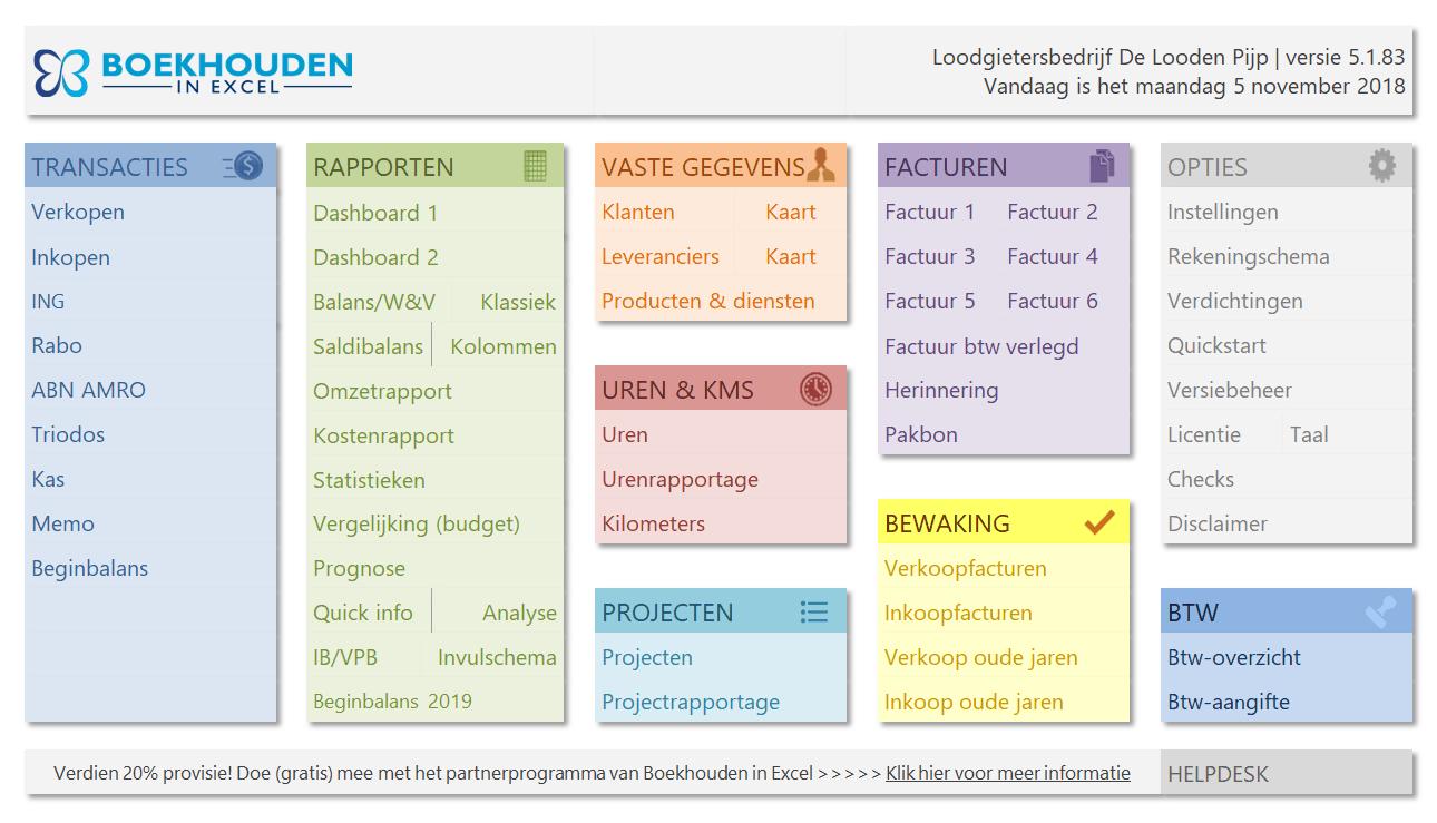 Excel Spreadsheet Boekhouden Pertaining To Boekhouden In Excel Voor Zzp'ers  Simpel En Snel Zelf Boekhouden