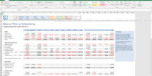 Excel Spreadsheet Boekhouden With Balans  Boekhouden In Excel Excel Spreadsheet Boekhouden Google Spreadsheet