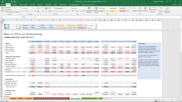 Excel Spreadsheet Boekhouden With Balans  Boekhouden In Excel