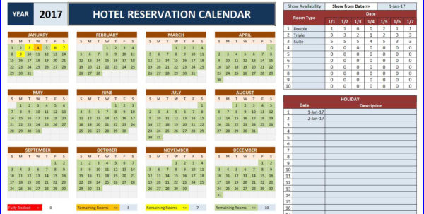 Excel Spreadsheet Booking System With Regard To Room Booking Calendar For Excel  Excelindo