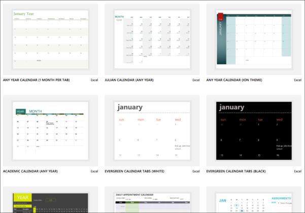 Excel Spreadsheet Calendar Template In Excel Calendar Templates  Excel