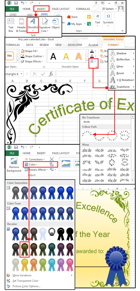 Excel Spreadsheet Certification Throughout Bet You Didn't Know Excel Could Do: Graph Paper, Address Labels