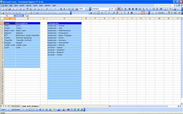 Excel Spreadsheet Check Register For Online Checkbook Register App  Rent.interpretomics.co
