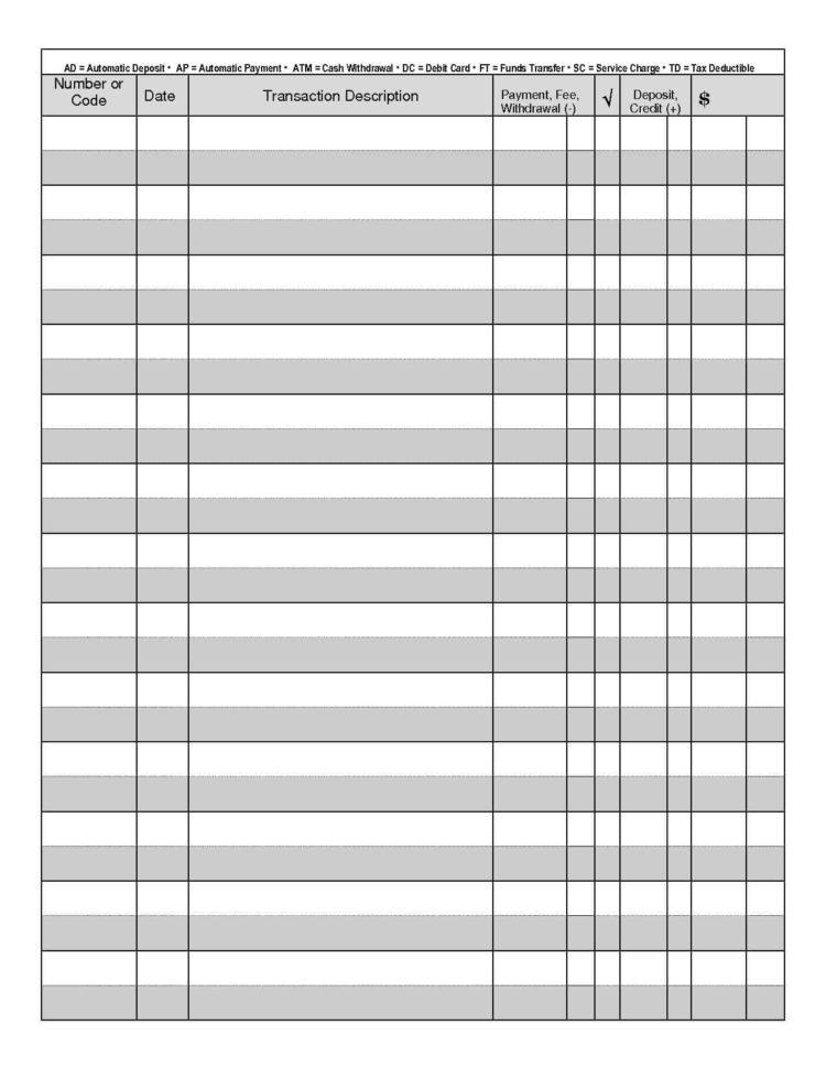 Excel Spreadsheet Check Register Inside Blank Check Register Template Excel And Blank Checkbook Registers
