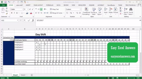 Excel Spreadsheet Classes Near Me Inside Employee Schedule Excel Spreadsheet Or With Free Scheduling Plus
