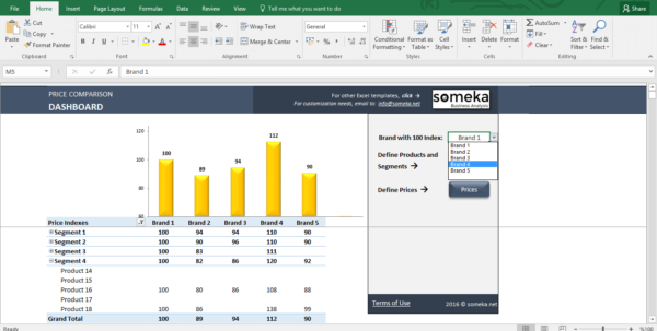Excel Spreadsheet Compare Tool Inside Price Comparison And Analysis Excel Template For Small Business