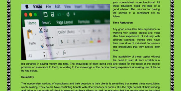 Excel Spreadsheet Consultant Intended For The Necessitate To Use Excel Spreadsheet Consultant Services
