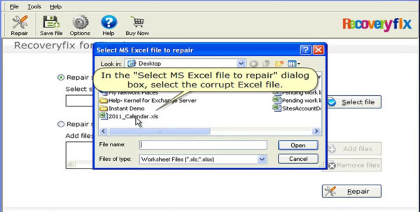 Excel Spreadsheet Corrupted Repair Pertaining To Recoveryfix For Excel, Recover And Repair Corrupted Xls File  Video