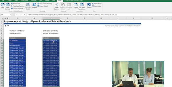 Excel Spreadsheet Course Online Intended For Session 3: Reporting In Excel  Lesson 3  Dynamic Element List