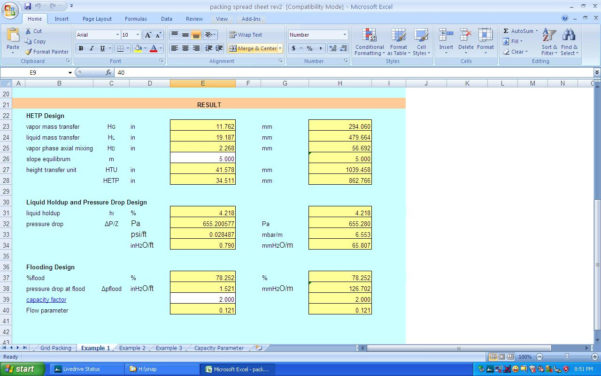 Excel Spreadsheet Designer Pertaining To Heat Exchanger Design: Heat Exchanger Design Calculations Excel Sheet
