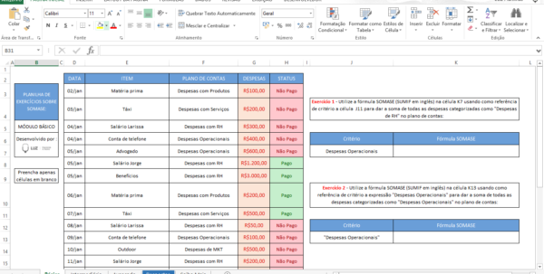 Excel Spreadsheet Exercises Pertaining To 10 Basic And Advanced Excel Exercises  Luz Blog