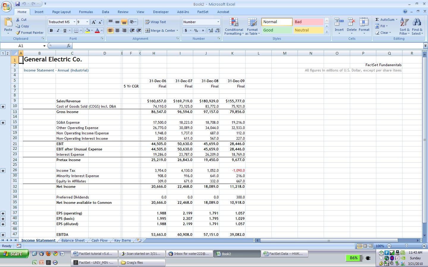 Excel Spreadsheet Financial Statement Pertaining To Famous Financial Modeling Wiki / Company Research: Importing
