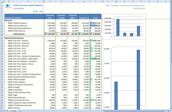 Excel Spreadsheet Financial Statement Pertaining To The Benefit Of Using Excel For Financial Reporting  Solver Blog