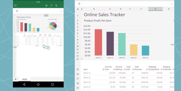 Excel Spreadsheet For Android Within The Best Office Apps For Android  Techconnect