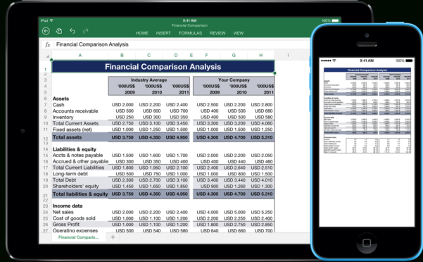 Excel Spreadsheet For Ipad Pertaining To Templates For Excel For Ipad, Iphone, And Ipod Touch  Made For Use
