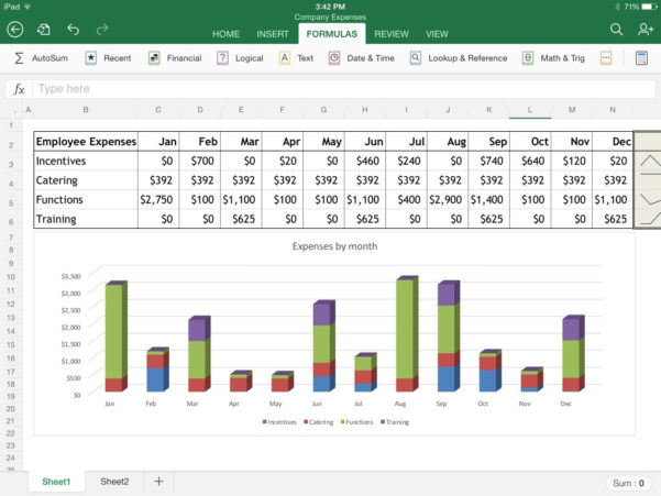 Excel Spreadsheet For Ipad Within Excel For Ipad: The Macworld Review  Macworld