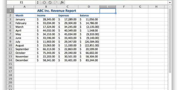 Excel Spreadsheet For Macbook Pro Pertaining To How To Hide Cells In Excel For Mac Os X  Tekrevue