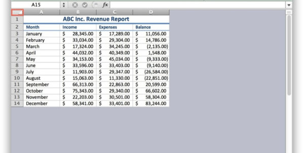 Excel Spreadsheet For Macbook Pro Throughout How To Hide Cells In Excel For Mac Os X  Tekrevue