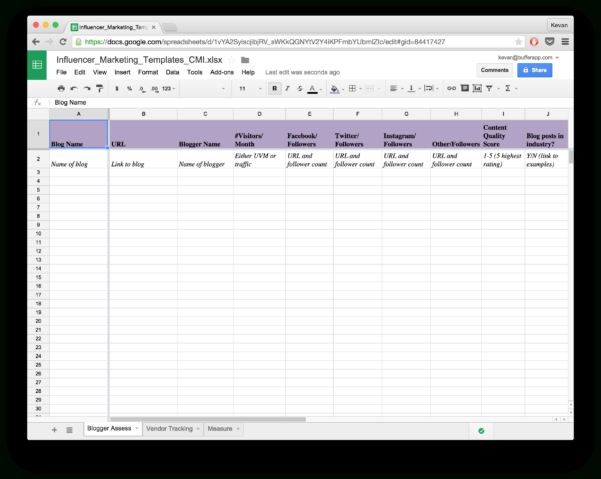 Excel Spreadsheet For Network Marketing Regarding 15 New Social Media Templates To Save You Even More Time