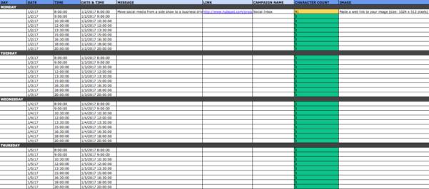 Excel Spreadsheet For Network Marketing Regarding The Social Media Content Calendar Template Every Marketer Needs