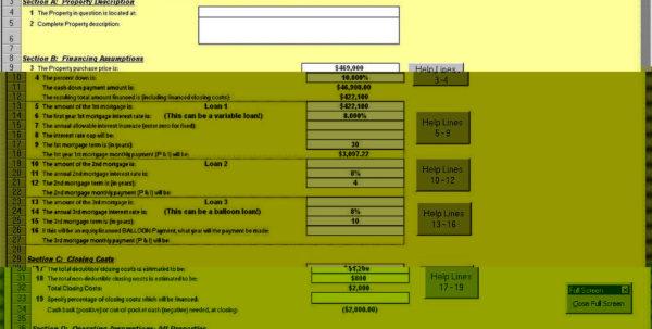Excel Spreadsheet For Rental Property Management Intended For Rental Property Return On Investment Spreadsheet Management Free