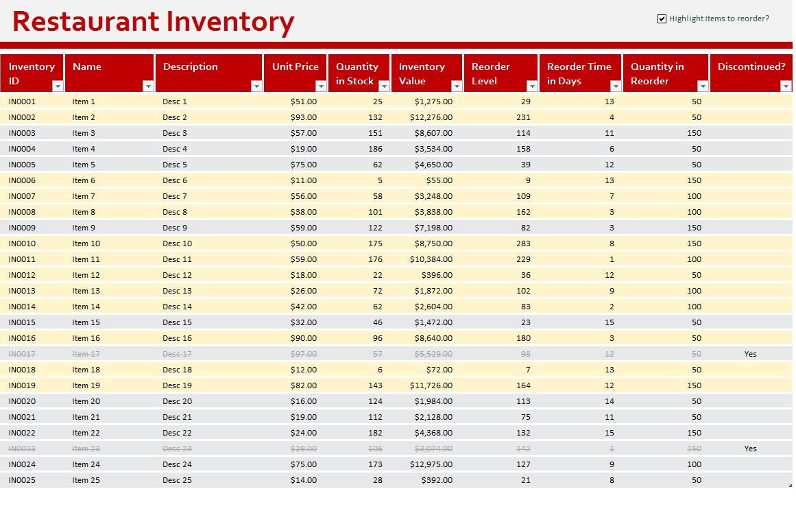 Excel Spreadsheet For Restaurant Inventory Regarding Free Restaurant Inventory Spreadsheet Xls With Plus Together As Well