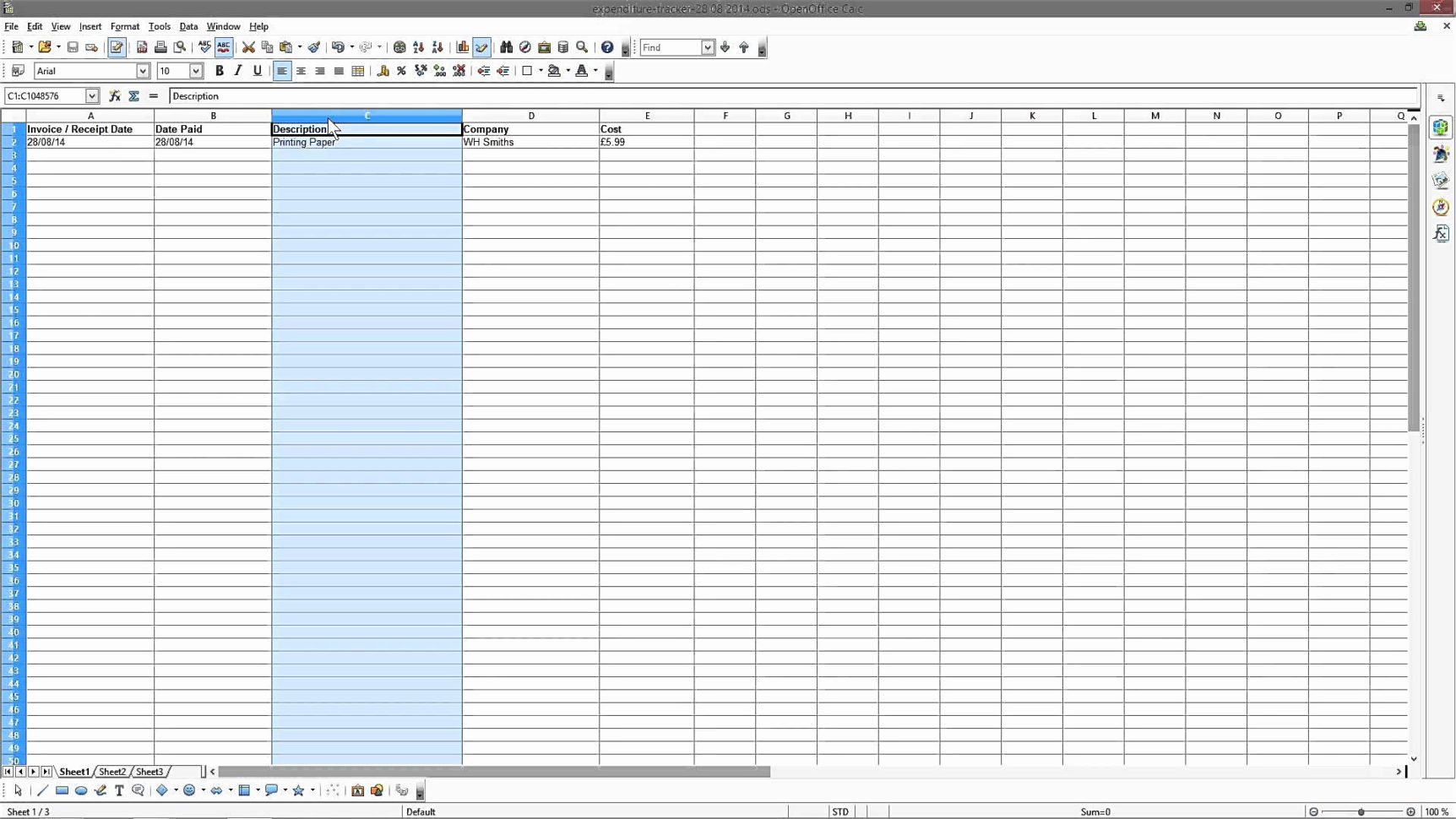 Excel Spreadsheet For Small Business Expenses Intended For Expense Tracker Spreadsheet Or Small Business Expense Sheet Excel