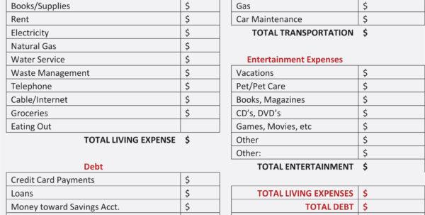 Excel Spreadsheet For Splitting Expenses For Split Expenses Spreadsheet  My Spreadsheet Templates