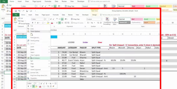 Excel Spreadsheet For Splitting Expenses With Expense Split Expenses Spreadsheet Money Group Shared Calculator