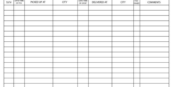 Excel Spreadsheet For Taxi Drivers In Driver Log Sheet Template  Charlotte Clergy Coalition