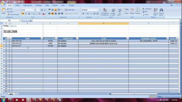 Excel Spreadsheet For Tracking Tasks For Task Management Excel Spreadsheet Template Manager Tracking