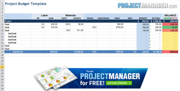 Excel Spreadsheet For Tracking Tasks Regarding Guide To Excel Project Management  Projectmanager