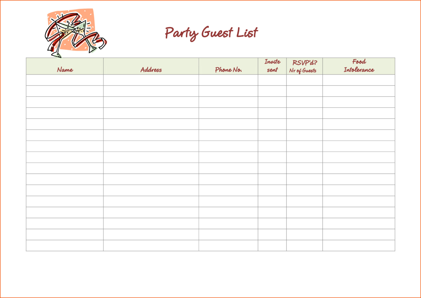 Excel Spreadsheet For Wedding Guest List Throughout Guest List Template Excel Beautiful Wedding Bud Excel Spreadsheet