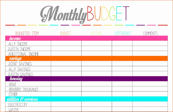 Excel Spreadsheet Form Within Dave Ramsey Budget Form Excel Spreadsheet Fresh Bud Lovely Free