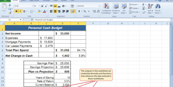 Excel Spreadsheet Formulas For Budgeting In Budget Formula Excel  Kasare.annafora.co