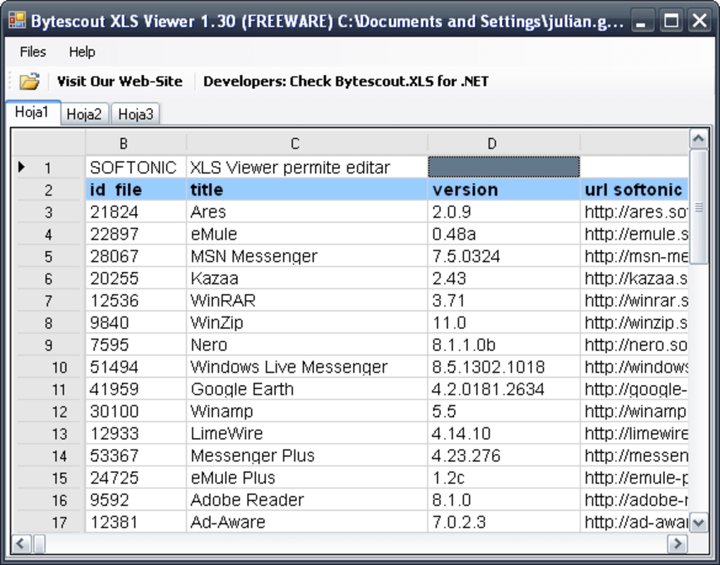 Excel Spreadsheet Free Download Windows 7 Throughout Xls Viewer  Download