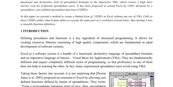 Excel Spreadsheet Functions Pertaining To Pdf User Defined Spreadsheet Functions In Excel