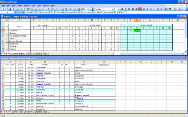 Excel Spreadsheet Games In Create Your Own Soccer League Fixtures And Table  Excel Templates