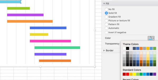Excel Spreadsheet Gantt Chart Throughout How To Make A Gantt Chart In 5 Minutes Or Less  Teamgantt