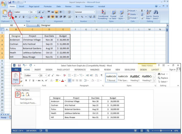 Excel Spreadsheet In Word Intended For How To Create Tables In Microsoft Word  Pcworld