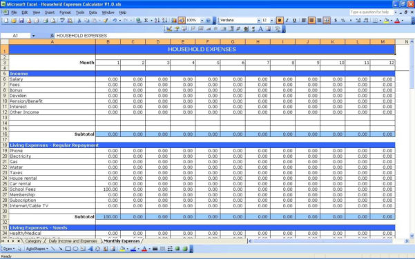 Excel Spreadsheet Income And Expenses Inside Free Exceladsheet For Small Business Income And Expenses Maggi