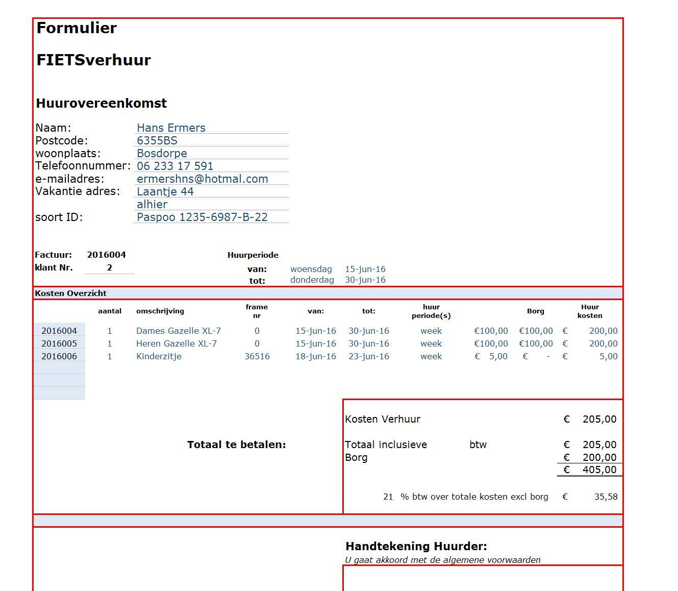 Excel Spreadsheet Maken Pertaining To Verhuur Voorbeelden Excel Spreadsheet.nl Binnen Factuur Maken In