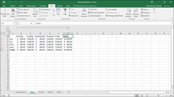 Excel Spreadsheet Maken Within Outline Excel Data In Microsoft Excel  Instructions