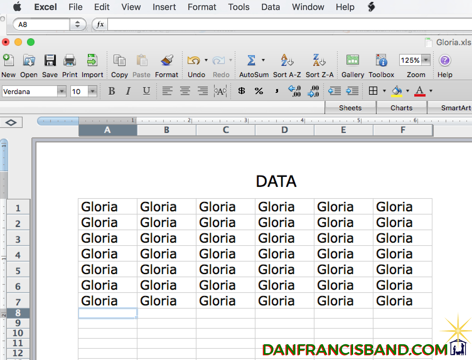 Excel Spreadsheet Meme In Gloria In Excel Sheet's Data  Imgur