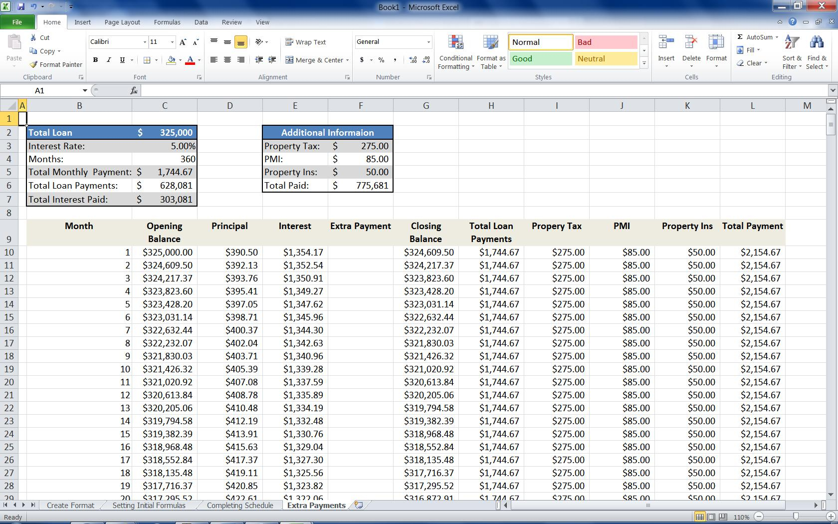 Excel Spreadsheet Mortgage Calculator Inside Mortgage Loan Calculator Using Excel  Turbofuture