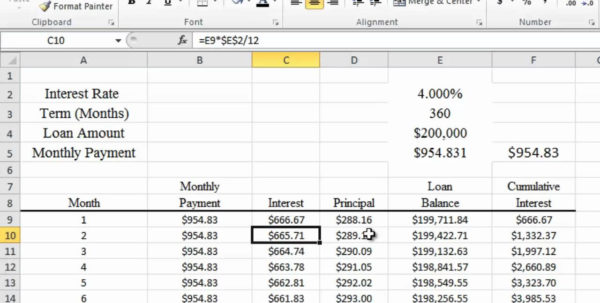 Excel Spreadsheet Mortgage Calculator Within Spreadsheet Maxresdefault Example Of Mortgage Calculator Canada