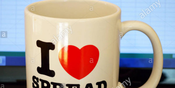 "Excel Spreadsheet Mug For An ""i Love Spreadsheets"" Mug On A Laptop Keyboard And An Excel Stock"